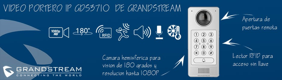 VideoPortero GDS3710 Grandstream