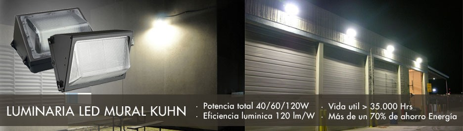 Luminarias Led Mural Kuhn